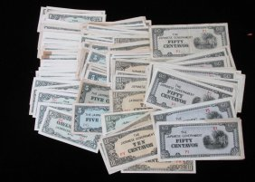 Lot Of 147 Wwii Invasion Notes, Phillipines