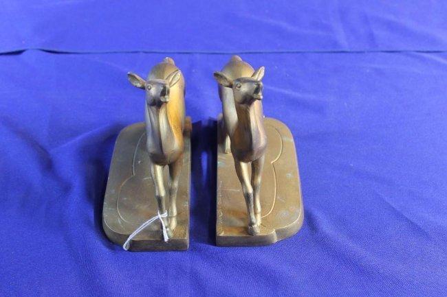 Frank Art Metal Gazelle Bookends Pair Lot 231