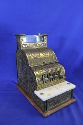 Ornate 1913 Audit Brand Store Cash Register Gold Gild