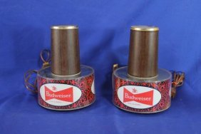 Lot Of 2 1971 Budweiser Bar Beer Sconce Lights