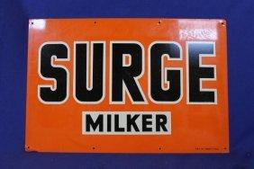 "Steel Surge Milk Sign 12"" X 18"""