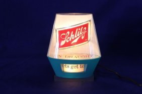 Schlitz Beer Counter Light - Spinning Marquee, Let's