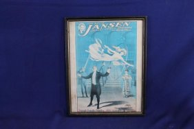 1911 Jansen Magic Show Poster Printed By American Show