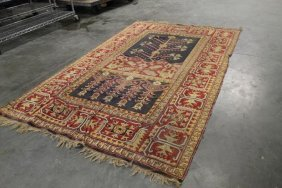 """80"""" X 48"""" Handwoven Rug/tapestry With End Fringe"""