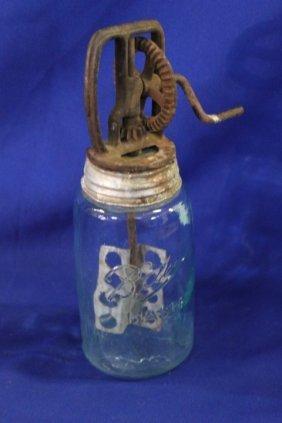 Old Mason Jar Beater Jar Or Butter Churn