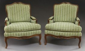 Pr. French Provincial Style Bergere Chairs