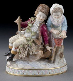 "Meissen Figural Group Emblematic Of ""Winter"","