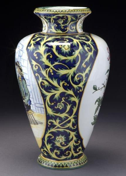 henriot quimper decor riche vase lot 9. Black Bedroom Furniture Sets. Home Design Ideas