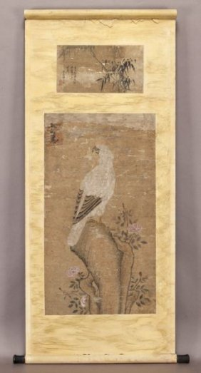 18th-19th Chinese Water Color Painted Scroll