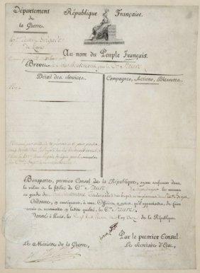 "Napoleon Bonaparte Document Signed ""bonaparte"""