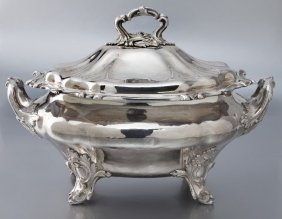 English Silverplate Lidded Tureen