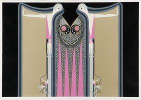 "Erte, ""twin Sisters"" Serigraph, 1981."