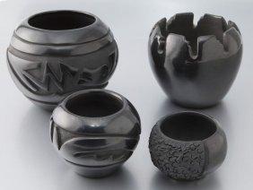 (4) Pcs. Blackware Pottery Comprising: