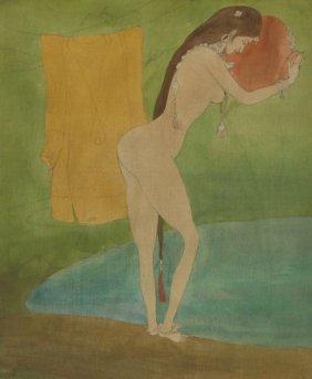 "Abdur Rahman Chughtai ""bathing Day (kasmiri Girl"