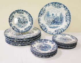 Partial English Ironstone Dinner Service
