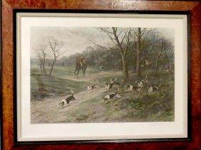 English Hunt Print