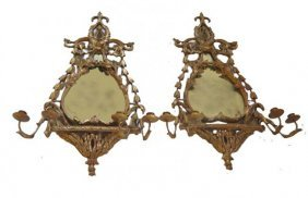 Pair Mirrored Wall Sconces