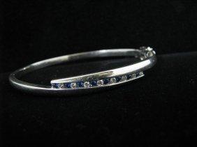Lady's White Gold Bracelet, Sapphires & Diamonds