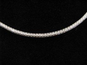 Lady's 18K WG Diamond Choker, 4-5cts