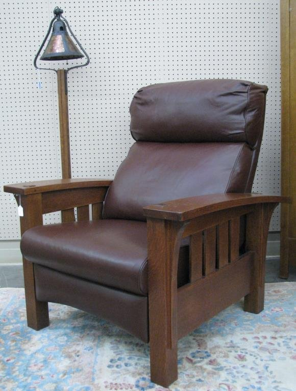 Stickley Furniture Bow Arm Morris Recliner Lot 862