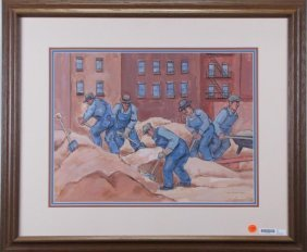 "Max Arthur Cohn 15x20 Mm ""construction Workers"""