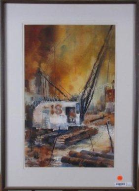 "Barbara M. Meeker 22x14 Wc ""building Big"""