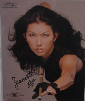 "Signed Jeanette Lee ""the Black Widow"" Headshot"