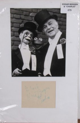 "Edgar Bergen, ""charlie"" Historical Photo, Card"