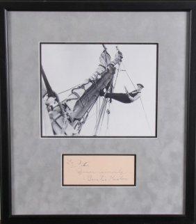Buster Keaton Historic Photo, Signature Card