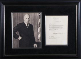 Dwight D. Eisenhower Image, Signed Letter
