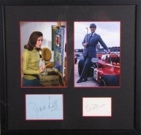 Diana Rigg, Patrick Macnee Photos, Signature Cards