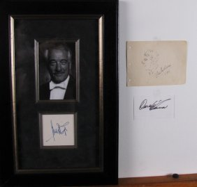 Victor Borge And Harry Blackstone Sr. Autographs