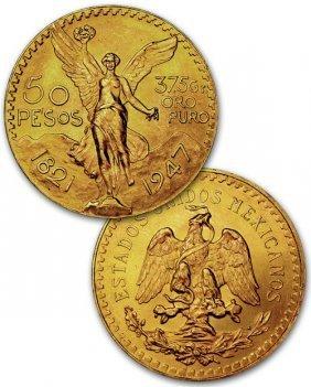 50 Mexican Pesos Gold Coin Rare 1821-1947/41gr.