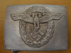 German Buckle Of The Hitler Police -. Ww2