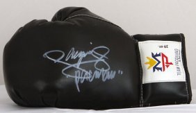 Pacquiao Training Signed Glove