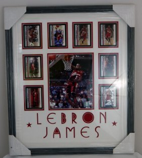 Labron James Picture On Black Frame - Signed & Auth