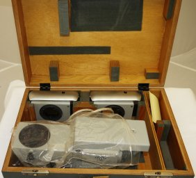 Duel Vintage Microscope Camera And Adapter In Case