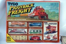 Vintage Tyco Piggyback Freight Train Set