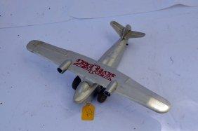 """Vintage """"silver Eagle"""" Windup Plane"""