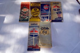 6 Vintage Gas And Oil Road Maps