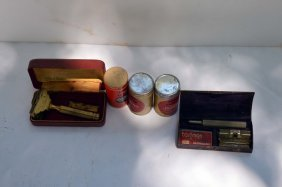 2 Vintage Razors With Cases And Sunbeam Comb Cutter