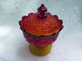 Daisy And Button Red Amberina Compote
