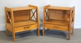 Pair Of Vintage Jacques Adnet Side Tables.