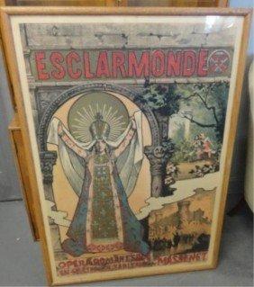 Art Nouveau Esclarmonde Poster.