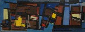 SCHMIDT, Allan. 1956 O/C Abstract Composition.