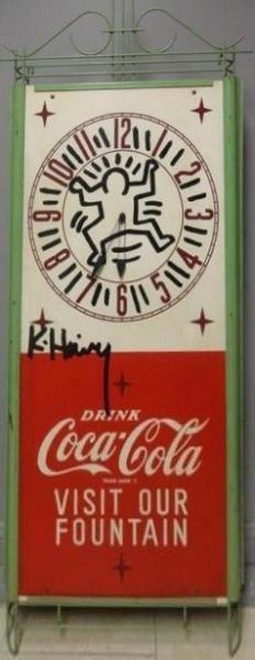 Keith Haring Coca Cola Clock.