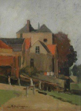 JANSEN, Willem G. F. O/C Country Landscape.
