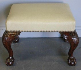 Chippendale Style Bench With Possible Ostrich