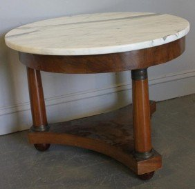 Empire Style Marble Top Coffee Table.