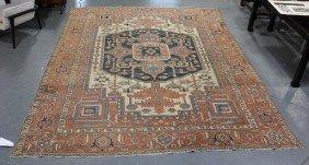 Roomsize Antique Heriz Carpet.